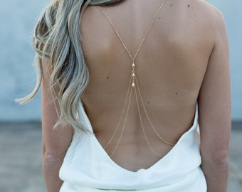 Beau - Handmade Body Chain in Silver or Gold
