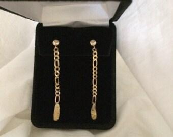 Nugget gold earrings