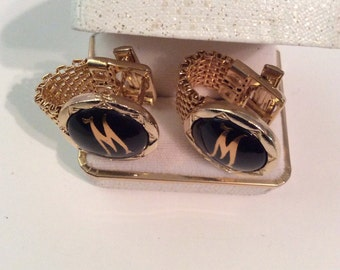 Vintage cuff links 3/4 in