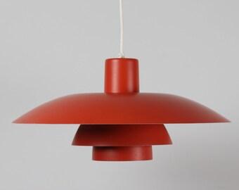 Poul Henningsen ORANGE PH 4/3 Pendant from Louis Poulsen A/S -  Denmark mid century -
