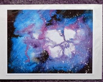 Inky Purple Galaxy Print