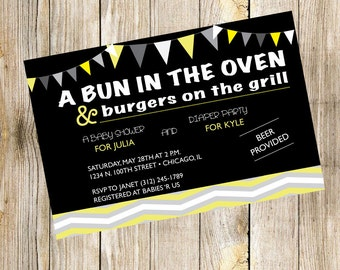 A Bun in the Oven & Burgers on the Grill Baby Shower