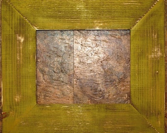 """F002 3-1/2"""" Pale Gold Distressed Picture Frame"""