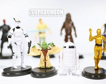 One Set 8 Pcs / Decoden / PVC / Star Wars / Dark Warrior / Stormtrooper / Darth Vader / Figurine / Dollhouse / 6-11cm / JP595