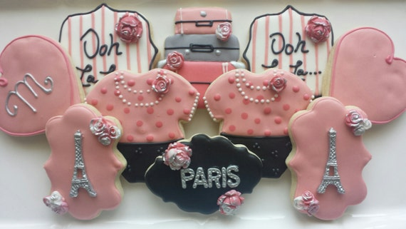 paris themed baby shower cookies french sugar cookies paris sugar