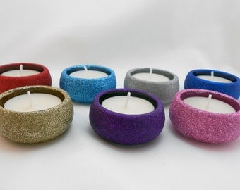 Glitter tealight Holder & candle