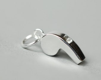 925 Sterling Silver Whistle Shape Special Pendant 1016