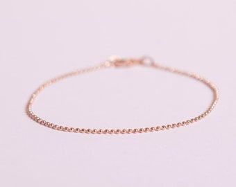 Pretty Bracelet  Rose Golden Ball Chain Beads Chain Plated  Rose Gold Plated Ballchain Rosegold