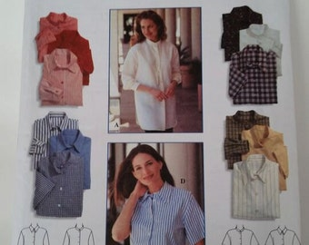 Vintage Simplicity Sewing Pattern 9818 Misses' Shirt in size 18, 20, 22