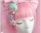 Pastel baby rabbit Brooch and hairclip