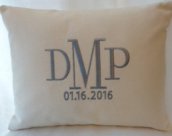 Personalized Baby Boy Gift - Birth Announcement Keepsake Pillow - Monogrammed Baby Boy - Perfect Baby Boy  Nursery