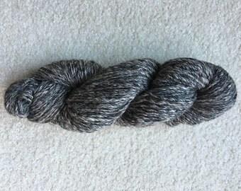 Grey heather alpaca yarn