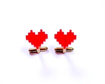 Cufflinks heart
