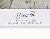 Self-Inking Address Stamp or Wood Address Stamp, Return Address Stamp, Envelope Stamp, Custom Stamp - Brenson