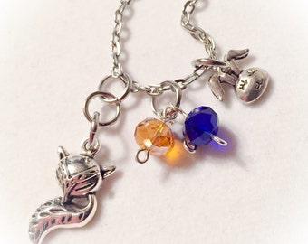 Zootopia inspired, zootopia necklace, zootopia jewelry, disney inspired, disney, zootopia, zootopia charm necklace, nick wilde, judy hopps