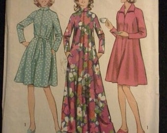 70s robe house coat pattern Simplicity 5314 Size 8-10 SMALL