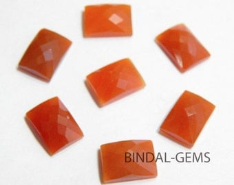 Wholesale Lot 15 Pieces Amazing Red Onyx Octagon Shape Checker Cut Gemstone For Jewelry