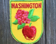 Washington State Vintage Travel Patch by Voyager