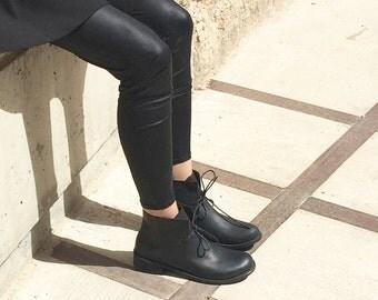 CIJ SALE Leather Shoes Black shoes Leather shoes woman