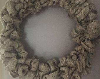 "18"" Burlap Wreath"