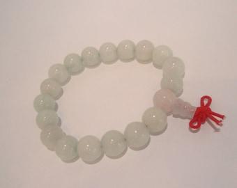 FREE SHIPPING Bead bracelet White Jade bracelet Enter coupon code FREESHIP16 at checkout