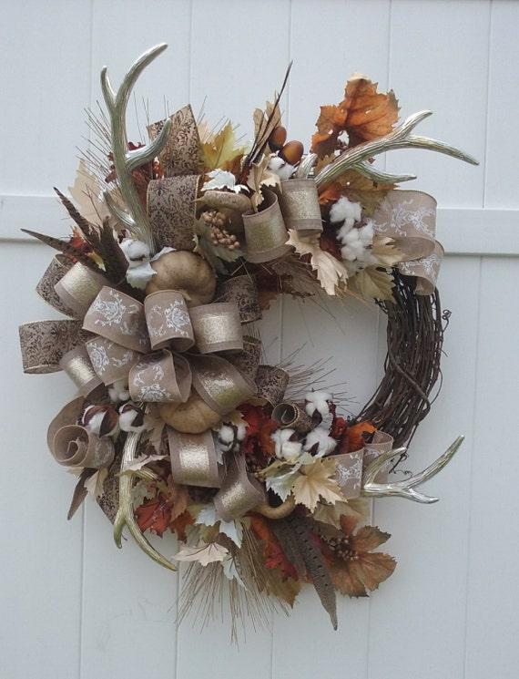 Autumn Wreath Hunter S Wreath Thanksgiving Wreath