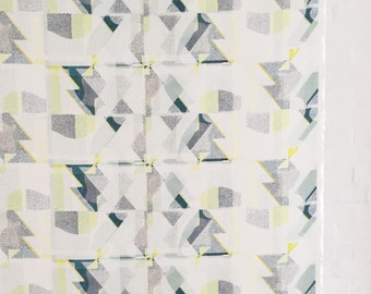 A Shingle Day fabric, designed by Touching Elbows for FLOCK