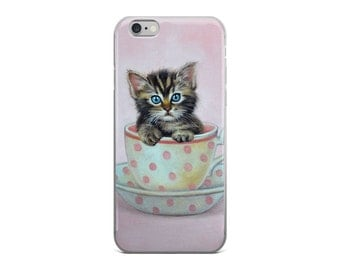 Cat cell phone case, cat phone case for for iPhone 5/5S/SE, iPhone6/ 6S, iPhone6 / 6S Plus, iPhone 7/ 7 Plus, kitten phone case, phone case