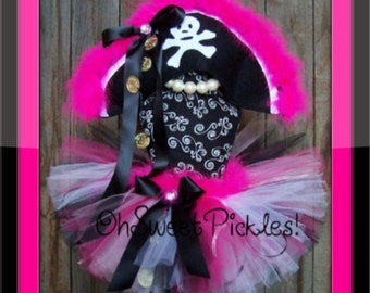 BIT' O PLUNDERING Pirate - Halloween Costume - Sizes 0, 3, 6, 9, 12, 18, 24 Months, 2t, 3t, 4t, 5t