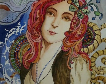 Portrait of a gypsy girl.