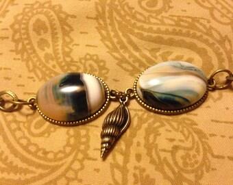 Sand and Sea Agate Bracelet