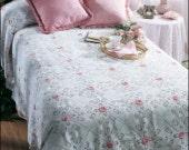 Custom for Betty Rosebuds in the snow coverlet