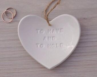 Wedding Ring Holder Dish
