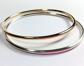 Classic 14K Gold-Filled Bangle - 10 gauge - Stacking Bangle Bracelet - Sleek Elegant Design