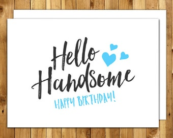 handsome card  etsy, Birthday card