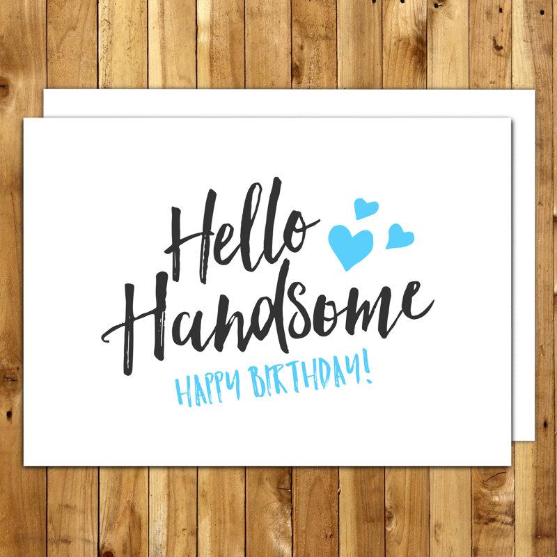 Boyfriend Birthday Husband Birthday Birthday Card For – Printable Birthday Cards for Him