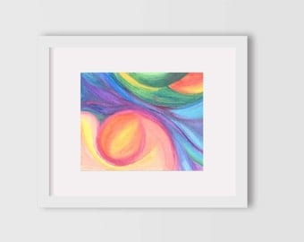 Glowing Pregnancy Watercolor Print Wall Art