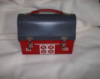 Vintage Barn Thermos Lunch Box from 1956.