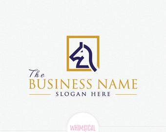 Horse Chess Logo _ Law Firm Company  professional Logo