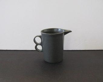 Midcentury David Gil 1394 Trigger Handle Gray Glaze Creamer - Bennington Potters 1960s