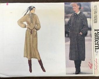 Vintage Loose Dress Pattern // Vogue 7172, size 12, unused, smock, shirt dress