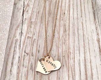 Dainty Floating Heart Necklace - Mommy Necklace - Gifts for her - Heart Initial Necklace - Sweetheart Necklace