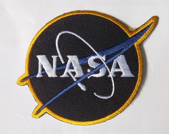 "Embroidered Nasa Iron on Patch Badge (3 1/4"" x 2 3/4"")"