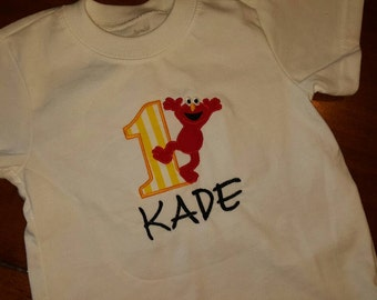 Sesame street elmo 1st birthday shirt. 12-18 month shirt or onesie