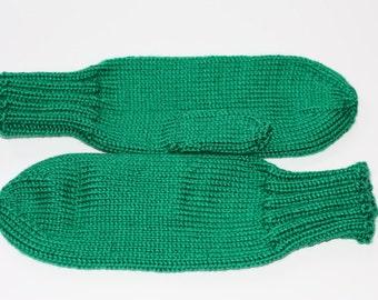 Knit Kelly Green Mittens - Adult Mittens - Green Adult Mittens - Green Accessories - Green Bridesmaid Gift - Knit Mittens - Knit Gloves