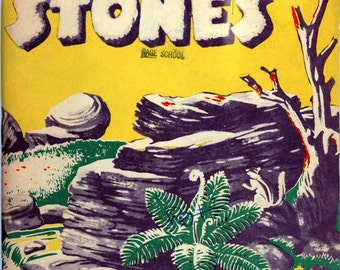 "1959 California State Department Of Education Textbook, ""The First Book Of Stones"""