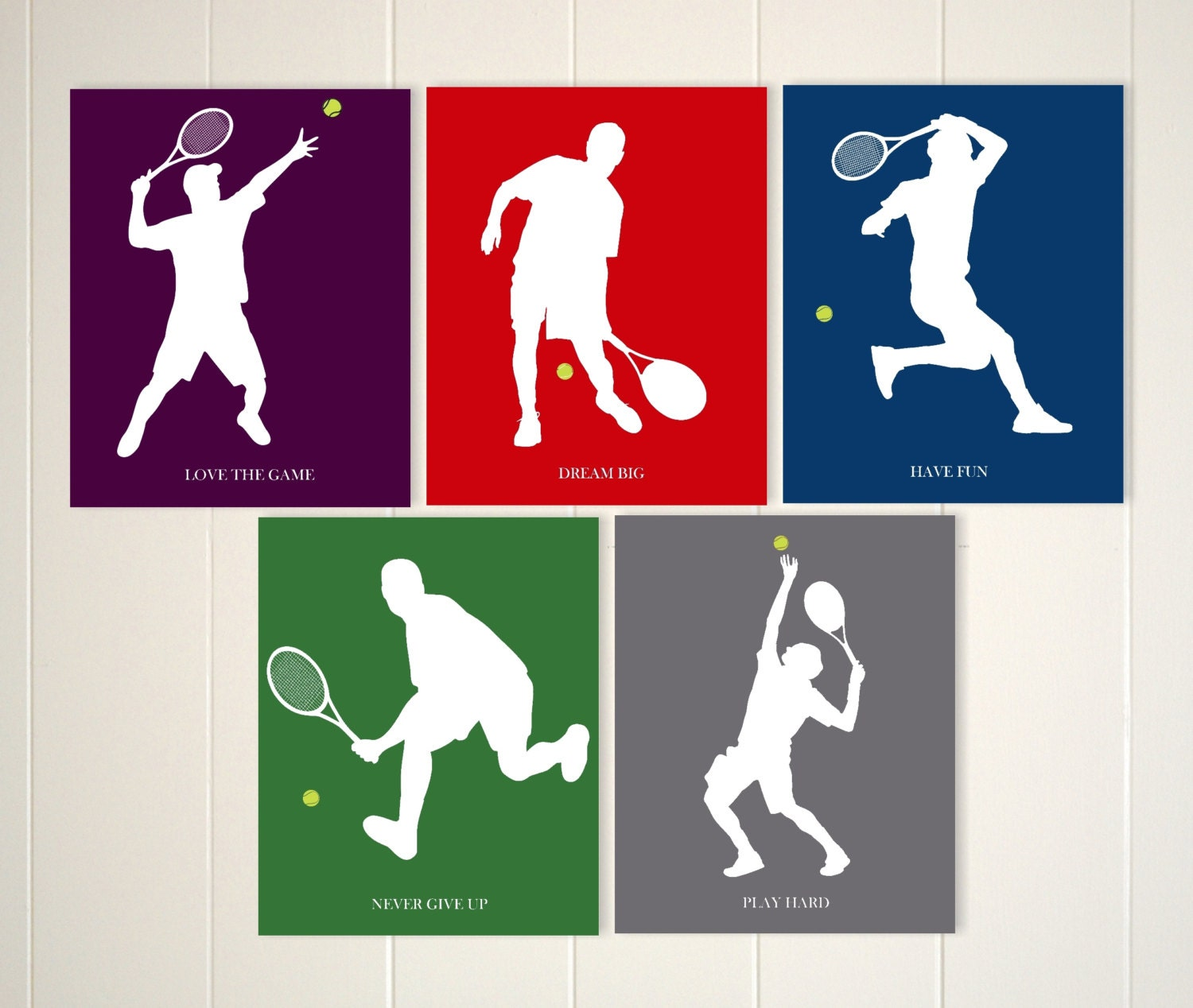 Tennis boys wall art tennis art sports art tennis player for Boys wall art