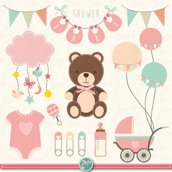 baby shower clipart baby shower clip art birth announcement rh catchmyparty com Purple Baby Shower Template Baby Girl Baby Shower Clip Art
