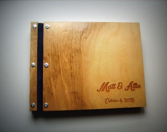 Two Tone Birch Personalized Portfolio Business Wood Portfolio Monogramed Portfolio Wooden Art Portfolio Laser Engraved Customized Book