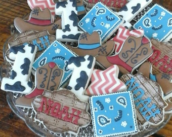Western - Cowboy decorated cookies